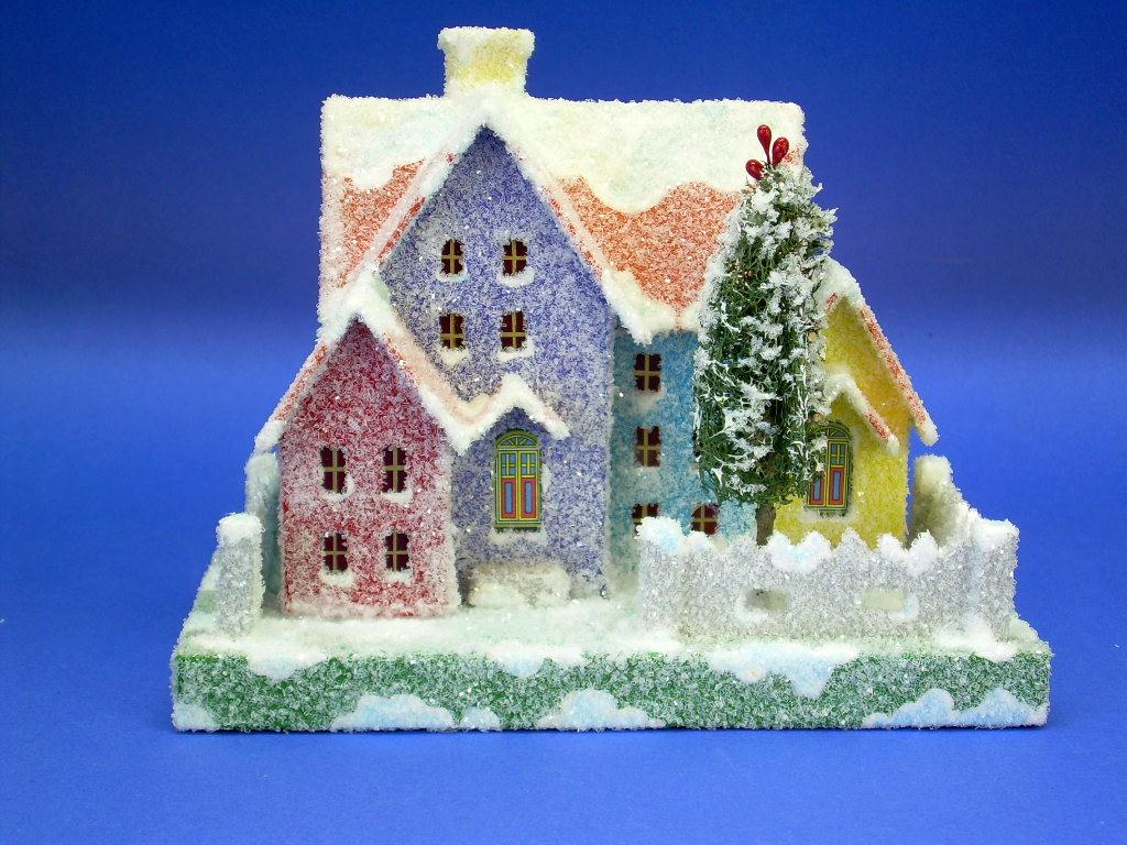 Glitter Christmas Houses Templates | Search Results | Calendar 2015