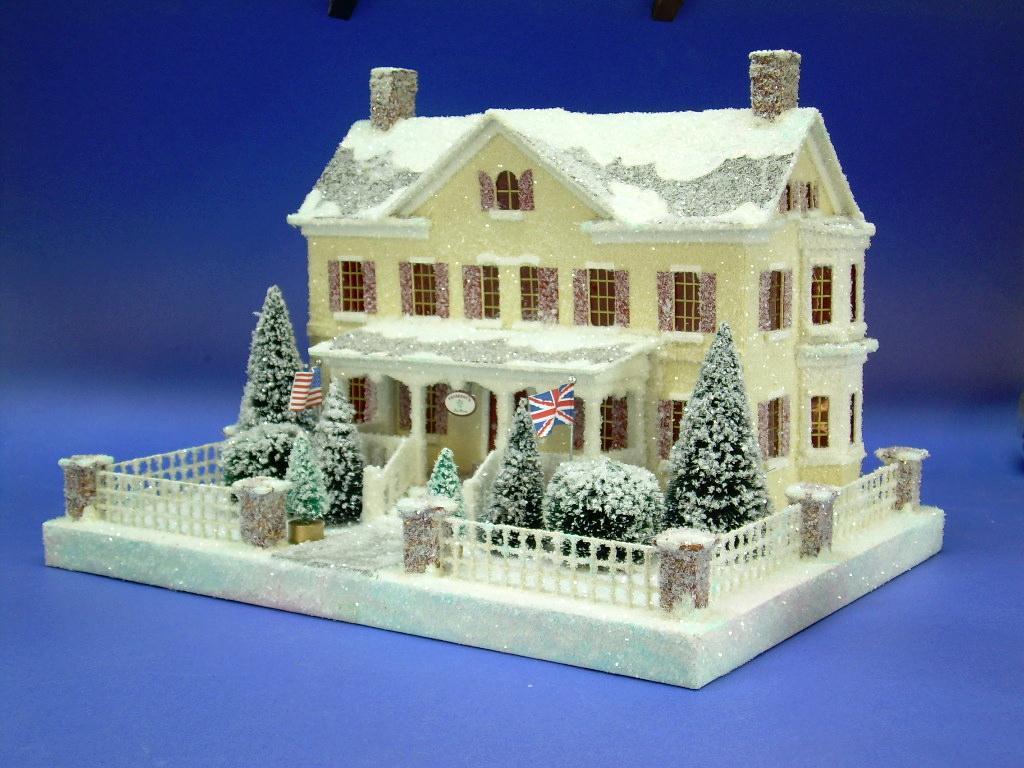 Glitter Houses/ Putz Houses on Pinterest   Glitter Houses ...