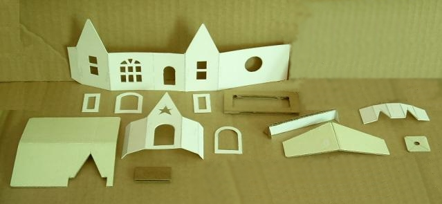 Cut out house model